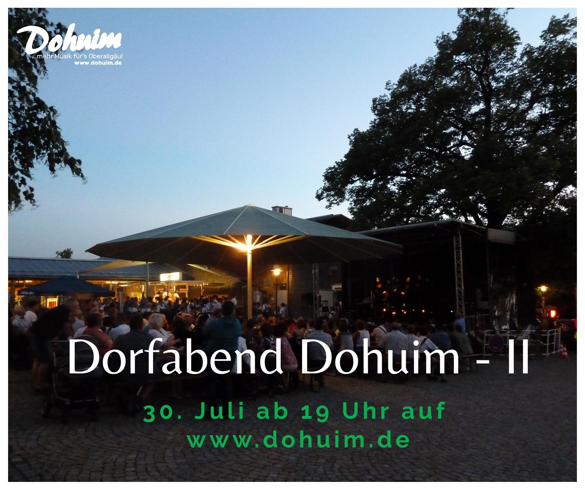 Burgberger Dorfabend – Dohuim II